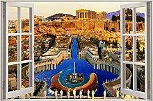 Effetto 3D finestra vista rovine vaticane Roma