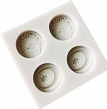 Eid Mubarak - Stampo in silicone per torte,