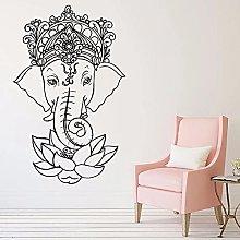 Elefante Vinile Wall Sticker Yoga Tribale Murale