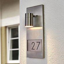 Elegante lampada numero civico Modena 7655 acciaio