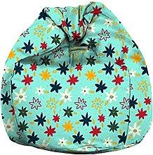 Eloria - Poltrona a sacco con motivo floreale, in