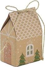 EMFGJ Sacchetto regalo a forma di casa, in carta