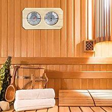 Emoshayoga Igrometro per Sauna Legno 2 in 1 per