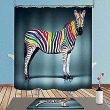ENCOFT Zebra Tenda Doccia con 12 Ganci in