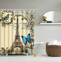 Enda da doccia divertente Farfalla fiore 3D