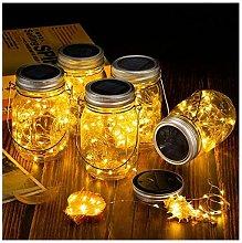 Energia solare Mason Jar luci aperto decorazione