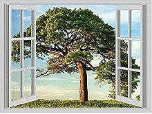 Enorme albero della vita Bella finestra Poster Art