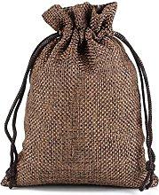 Enostore, sacchetti regalo in iuta di lino da 7 x