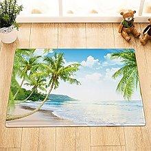 Estate spiaggia palme coperta antiscivolo porta