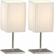 Etc-shop - Set di 2 lampade da tavolo lampade da