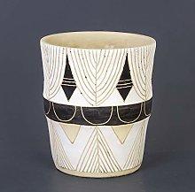 Euro Flora Round Vaso di Cemento Bianco 23x29 cm