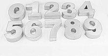 EURO TINS Teglia grande numero per dolce set