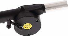 Eurohome - Ventilatore per barbecue con manovella,