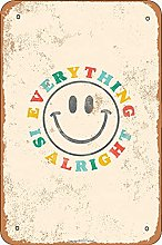 Everything Is Wlright Tin 20 x 30 cm Vintage Look