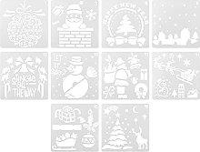 EXCEART 10Pcs di Natale Pittura Template Fai da Te