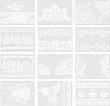 EXCEART 11Pcs Pittura di Fiori Stencil Modelli di