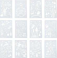EXCEART 12 Fogli di Natale Stencil Regalo di