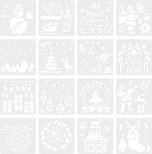 EXCEART 16Pcs di Natale Pittura Modello di Natale
