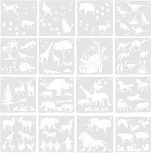 EXCEART 16Pcs Pittura Stencil Scrapbook Album