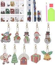 EXCEART 2 Set Portachiavi Fai da Te Set di Natale