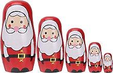 EXCEART 5Pcs Babbo Natale Matryoshka di Natale di