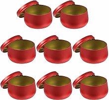 EXCEART 8Pcs Metallo Rotonda Lattine di tè