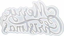 EXCEART Buon Natale Lettera Stampo- Trasparente di