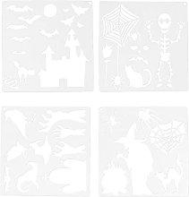 EXCEART Halloween Pittura Modello di Disegno
