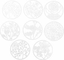 EXCEART Stencil per Fiori Forma Rotonda Scava