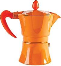 Excelsa Aroma Color Caffettiera, 3 Tazze, Arancio