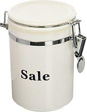 Excelsa Black & White Barattolo Sale, Plastica,