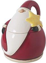 Excelsa Santa Claus Biscottiera, Ceramica, Rosso,