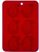 Excelsa Stampo in Silicone, 6 Mini Babbo Natale,