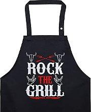 EXPRESS-STICKEREI Rock The Grill, grembiule da