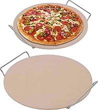 EXTLEZSA 2 Pezzi di Pietra per Pizza Rotonda con