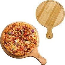 EXTLEZSA Tagliere per Pizza in Legno Rotondo con