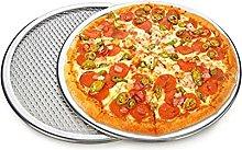 EXTLEZSA Teglia da Forno per Pizza da 6 a 14