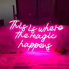 F66enghuijun Grande insegna al Neon Rosa al Neon