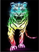 Fai da Te 5D Pittura Diamante Dipinto Tigre