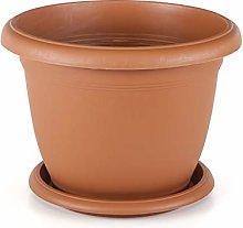 FairFox - Vaso rotondo per piante con sottovaso in