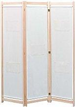 FAMIROSA Paravento a 3 Pannelli Crema 120x170x4 cm