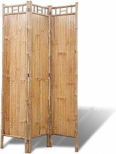 FAMIROSA Paravento a 3 Pannelli in bambù