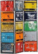 FAMIROSA Paravento Multicolore 45x17x167 cm Ferro