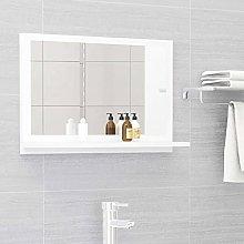 FAMIROSA Specchio da Bagno Bianco 60x10,5x37 cm in