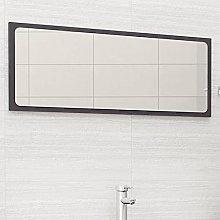 FAMIROSA Specchio da Bagno Grigio 100x1,5x37 cm in