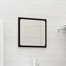 FAMIROSA Specchio da Bagno Nero 40x1,5x37 cm in
