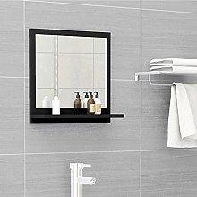 FAMIROSA Specchio da Bagno Nero 40x10,5x37 cm in
