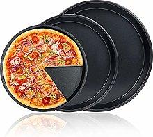 FANDE 3 Pz Set Teglia per Pizza Tonda Rivestimento