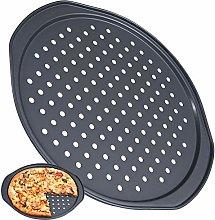 FANDE Teglie per Pizza Rotonde Forate
