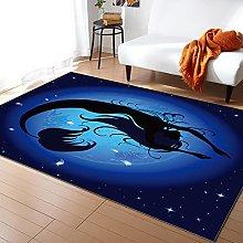 Fantasy Blue Mermaid Tappeti per soggiorno Camera
